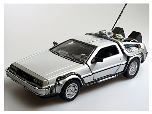 de Lorean Dmc Delorean Back To Future i 1 Teil ZurÜck in Die Zukunft 1/24 Welly Modellauto Modell Auto