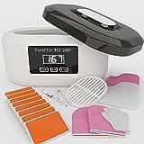 Paraffin Wax Machine for Hand and Feet with Peach Paraffin Wax 3.8 lbs, Quick Heating Paraffin Hand Wax Machine Moisturizing Kit