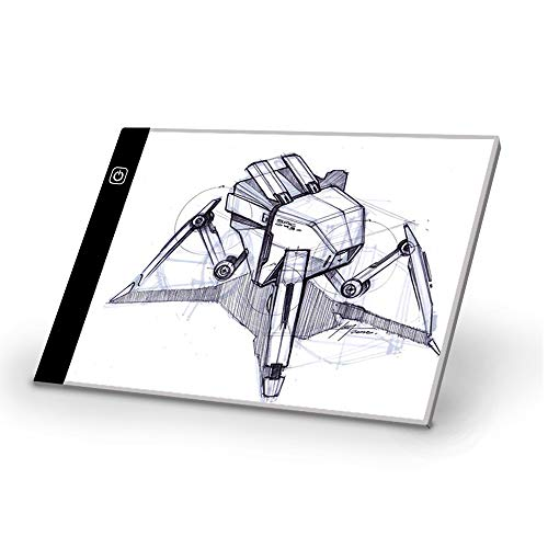 Sunny USB給電 LEDトレース台 A5サイズ 3段階光量調整 薄型計量設計 ポータブル製図板 持ち運びに便利 マンガ イラスト 絵写し 測量
