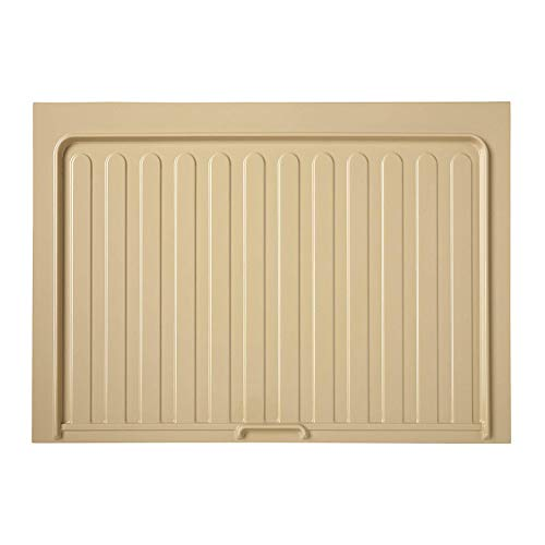 Rev-A-Shelf SBDT-3336-A-1 Under Sink Base Drip Tray Mat Sink Shelf Liner Kitchen Cabinet Protective Organization Accessory for 33-Inch or 36-Inch Cabinets Almond