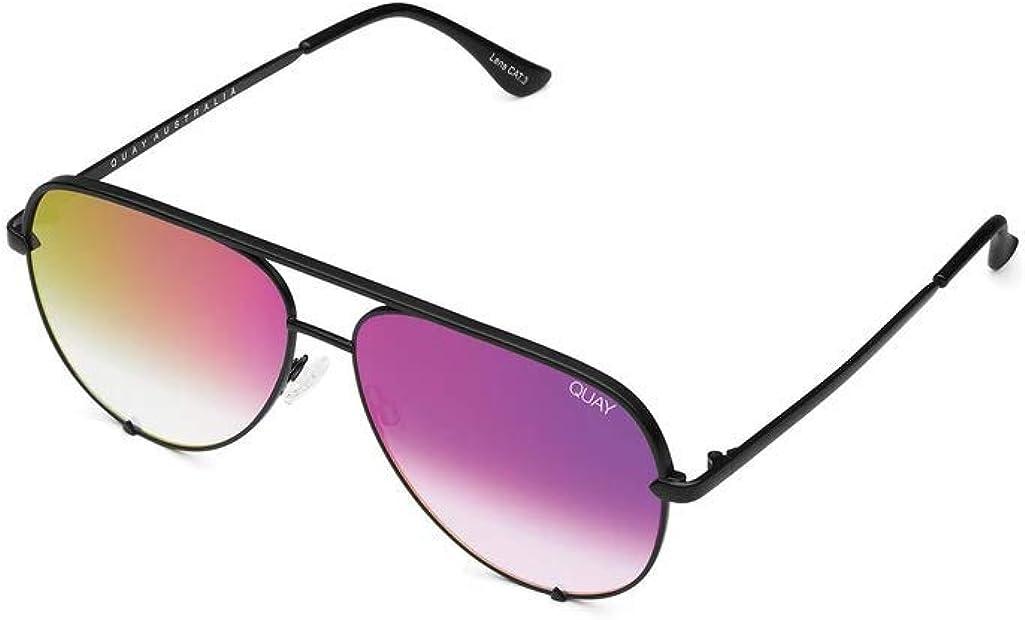 QUAY AUSTRALIA High Key Mini Black/Pink Mirror One Size