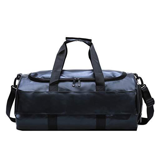 ZXC Home Handtas, outdoor, reis, opbergtas, PU-leer, hoge capaciteit, sportieve training, multifunctioneel, schoudertas, bagagetas, 2 kleuren naar keuze