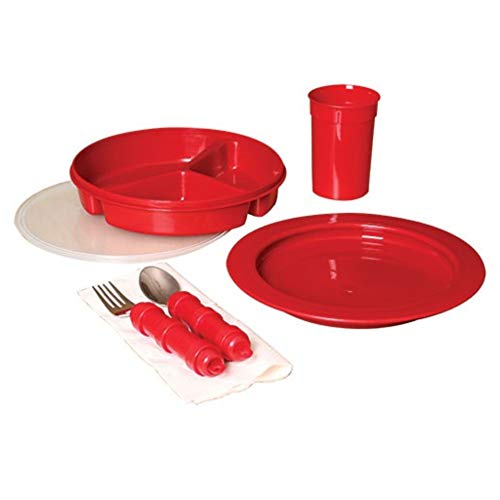 Deluxe 5-piece Redware Dining Set, especially for Alzheimer's Patients