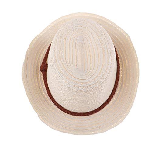 F Fityle Muñeca Encantadora Sombrero de Paja Artesanía de ala Ancha para 25cm Mellchan Reborn Doll Accesorios de Ropa