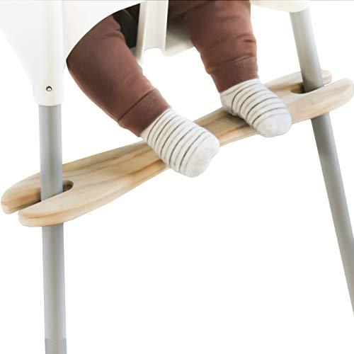 Fußstütze kompatibel mit IKEA ANTILOP Hochstuhl, höhenverstellbar, Fußablage für Kinderhochstuhl, aus Kiefernholz