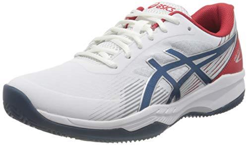 ASICS Herren Gel-Game 8 Clay/OC Tennis Shoe, White/Mako Blue, 42.5 EU