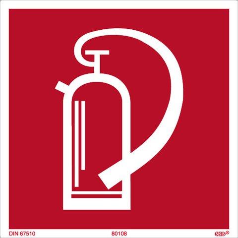 SSS® SIGNUM SAFETY SIGNS Schild, F001 - Feuerlöscher, 200 x 200 mm, Druckfarbe: rot, Sie erhalten 1 Stück