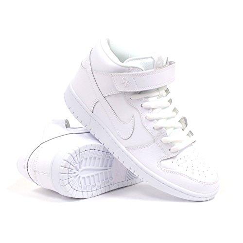 Nike Dunk Mid Pro SB 314383 - Zapatillas de skate para hombre, blanco (Blanco/Lt Base Gris), 42 EU