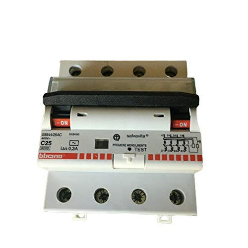 Interruptor magnetotérmico diferencial AC 4P 16A 6KA 300MA 4MD - Bticino LEGRAND G8844/16AC