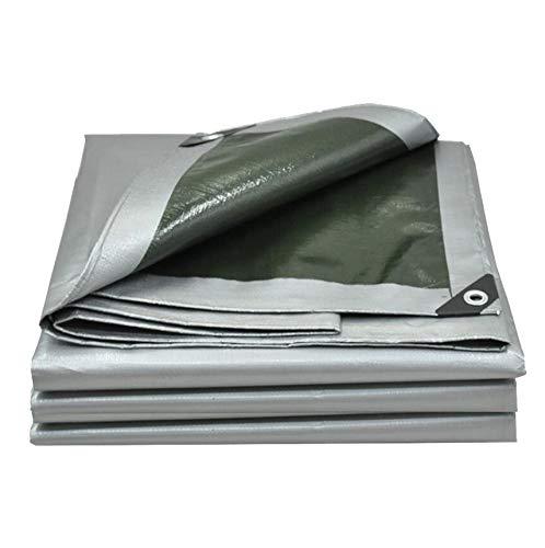 AOHMG Bache Impermeable Avec Oeillets Grande Taille, bords de renfort en tissu imperméable auvent réversible pour plantes de balcon,13.2x16.5ft/4x5m