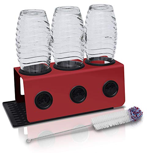 Sodaflip Égouttoir à vaisselle avec bac d'égouttage, porte-bouteilles, accessoire pour Sodastream...