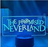 Manga japonesa The Promised Neverland Emma Figura Luz de noche LED para decoración de la habitación ...