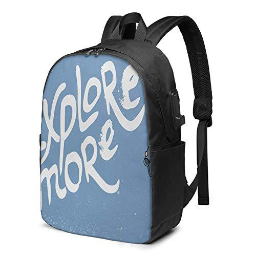 Laptop Rucksack Business Rucksack für 17 Zoll Laptop, Junge Fernglas Kindheit Schulrucksack Mit USB Port für Arbeit Wandern Reisen Camping, für Herren Damen