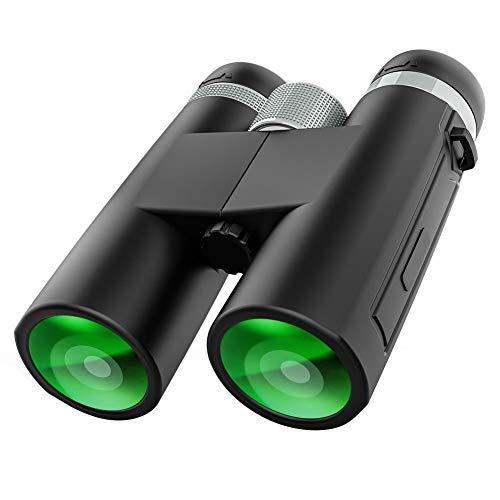 FJYDM Binoculares 12X42 Binoculares Compactos Profesionales De Alta Definición para Observación De Aves Caza Viajes Deportes Al Aire Libre Juegos Y Conciertos con Prisma BAK4