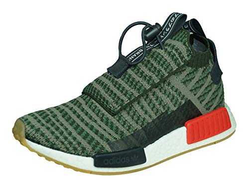 Adidas NMD_TS1 PK Hombre Running Trainers Sneakers (UK 10.5 US 11 EU 45 1/3, Green White B37633)