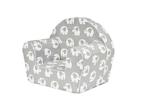MoMika bambini Sedia | poltrona | Divano Sedile | Sgabello per bambini - Toddlers - Bambini sede sofà | 0-4 anni | (Elephant-Heart)