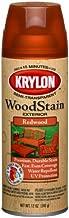 Krylon K03604000 Exterior Semi-Transparent Wood Stain, Redwood, 12 Ounce