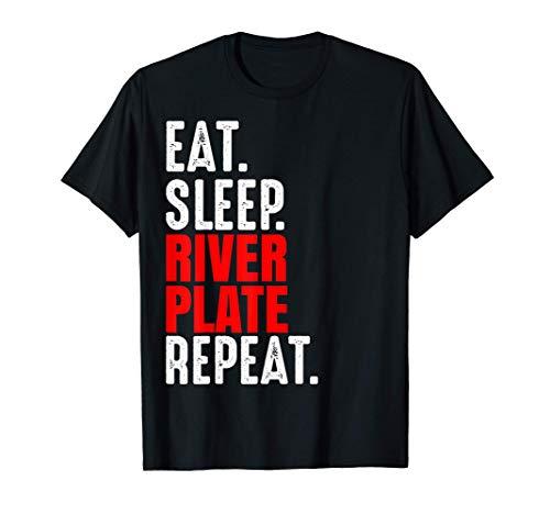 River Plate Regalo Eat Sleep Repeat Fútbol Argentina Camiseta