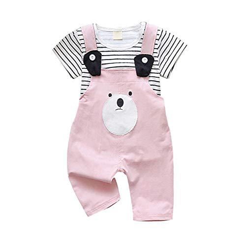 Gyratedream Zomer Casual Baby Leuke Bib Broek Korte Mouw En Suspender Broek Kit Kids Tweedelige Outfit Set