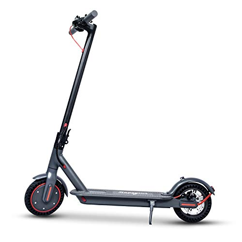 Dušial New Upgrade Electric Scooter Adult 350W Motor 3 Speed Modes 8.5 Inch Tire LCD Display Front LED Light Warning Taillight Folding Electric Scooter for Adults Commuter Maximum Load 100kg