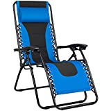Greesum GS-TKZG1GY Oversize Padded Zero Gravity Lounge Chair...