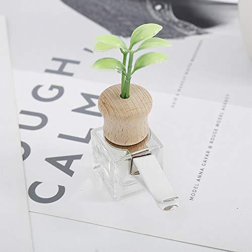 VFDZ Perfume de Coches Clip Hierba Olor del ambientador de Aire Auto de la decoración Salida de la Botella vacía Vent Ornamento Regalo de Accesorios Sin perfumes (Color Name : Square)