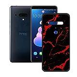 DQG Anti-Fall Schutzhülle für HTC Exodus 1 Hülle, Weiche Handytasche Schwarz TPU Handyhülle Silikon Tasche Schale rutschfest Hülle Cover für HTC Exodus 1 (6.0