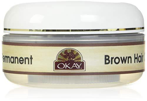 OKAY Henna Semi Permanent Hair Color Cream, Brown, 2 Ounce