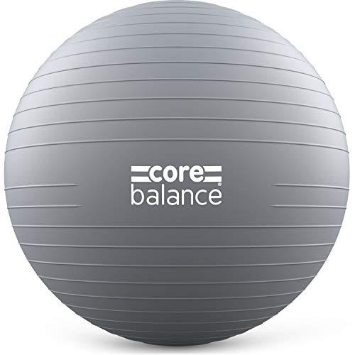 CORE BALANCE, berstsicherer Gymnastikball - für Fitness Yoga Schwangerschaft - 55cm 65cm 75cm 85cm - inkl. Luftpumpe