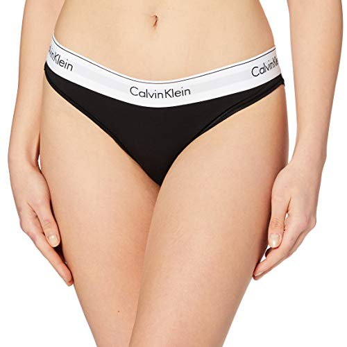 Calvin Klein Underwear MODERN COTTON - BIKINI, Bikini Cullote Para Mujer, Negro (Black 001), Large
