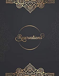 Reservations: Undate Reservation Book For Restaurant | 365 Day Guest Booking Diary | Daily Hostess Table Log Journal | year 2020 (Restaurant Reservations Booking Log)
