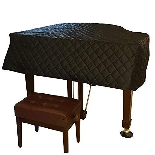 G-AO Negro impermeable piano de cola completo cubierta gruesa de nylon a prueba de polvo cubierta de polvo cubierta piano digital cubierta triángulo insonorizadas a prueba de humedad (tamaño: 210cm)