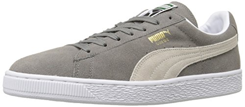 PUMA Suede Classic Sneaker,Steeple Gray/White,11 M US Men's