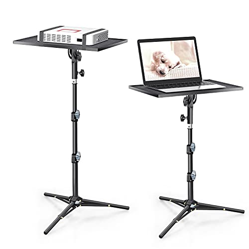 CODN Projector Stand, Foldable Projector Mount Laptop Tripod Adjustable Height 23'' to 43'', Universal Outdoor Laptop Floor Stand for Computer, Book, Music Notes, Sound Media, DJ Equipment