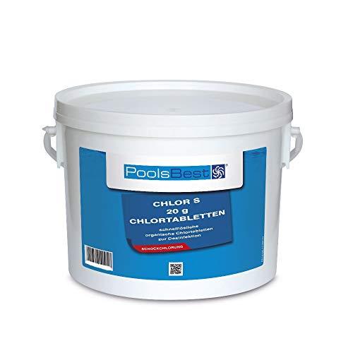 3 Kg - PoolsBest Chlortabs S 20g - schnelllöslich