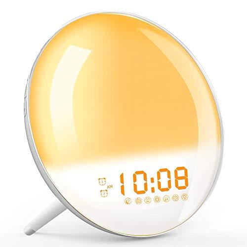 Wake Up Light, Sunrise Simulation Alarm Clock, Sleep Aid Colored...