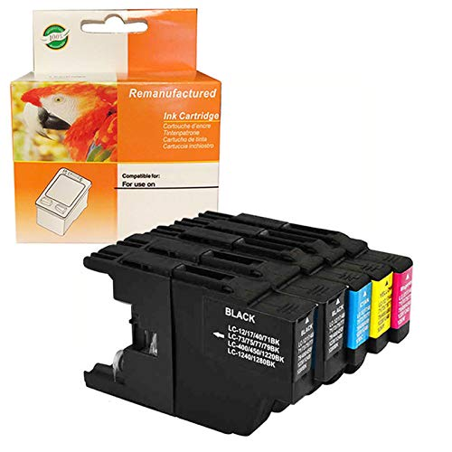 ZET Remanufactured Ink Cartridge Replacement for Brother LC75 XL LC79 XL LC71 LC73 Use in MFC-J280W, J425W, J435W, J625DW, J6510DW, J6710DW, J6910DW Printers (2 Black, 1 Cyan, 1 Magenta, 1 Yellow)