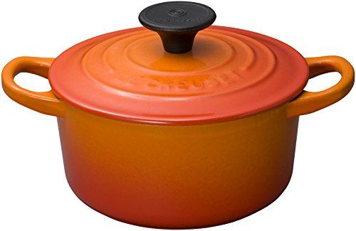 ル・クルーゼ(Le Creuset) 鋳物 ホーロー 鍋 ココット・ロンド 14 cm オレンジ ガス IH オーブン 対応 【日本正規販売品】