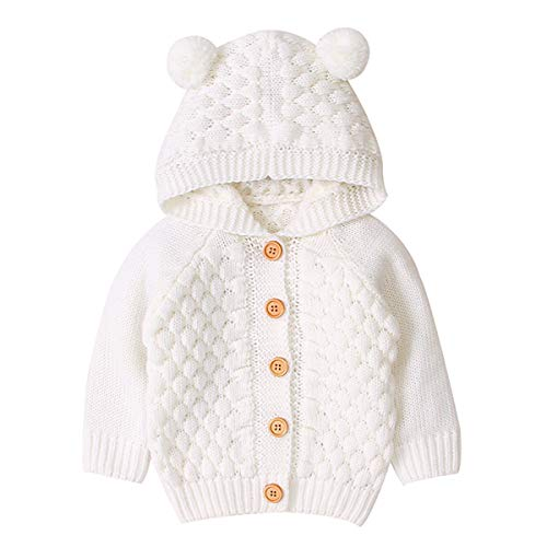 Tianhaik Bebé niña niño Abrigo de Punto Invierno cálido Capucha Prendas de...