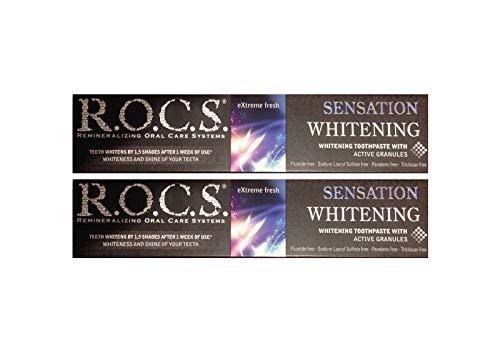 2x ROCS Sensation Whitening Zahncreme Zahnpasta r.o.c.s. 74g Zahnpflege Zahnweiss
