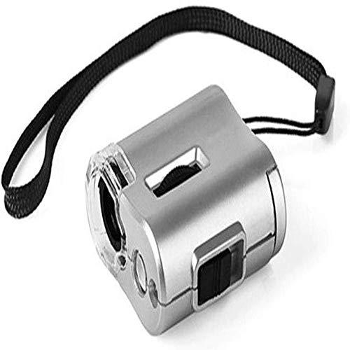 WYKDL LED Iluminado microscopio de Bolsillo 60x Zoom de Bolsillo de la Lupa del microscopio - Lupa Ligera Muy compacta, for la inspección de Campo de la Ciencia Fibras células Vegetales