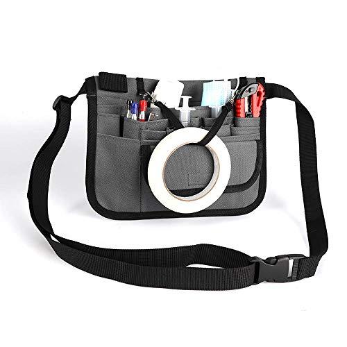 Riñonera para enfermera, Healifty Medical Belt Enfermera Cinturón de enfermería Organizador Riñonera Bolsa Accesorios para enfermeras Cinturón de utilidad Bolsa de herramientas para enfermeras - Gris
