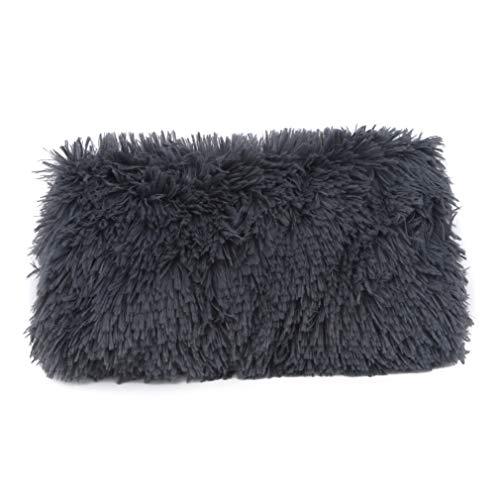 Hengxing Puppy Cat Decke lange Plüsch Bett Matte Winter Pet Sleep Pad,Dunkelgrau,XL