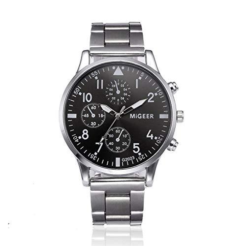 Dorical Herrenuhr Armbanduhr für Herren, Männer Analog Quarz Uhr mit Elegant Edelstahl Armband/Männ Luxus Mode Analoge Sport Metall Uhr Sale(B)
