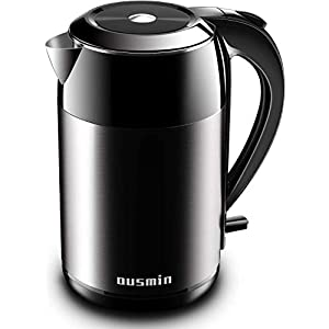 OUSMIN Electric Kettle 1.8 Litre, 2200W Stainless Steel Electric Kettle with BPA-Free, Fast Boiling, Boil Dry Protection for Home Office