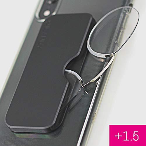 ICANDY Pocket reading Glasses - Praktische Lesebrille mit Halterung zum überall anbringen - 1,5 Dioptrien
