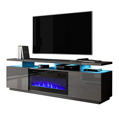 Meble Furniture Eva-KBL Electric Fireplace Modern 71' TV Stand