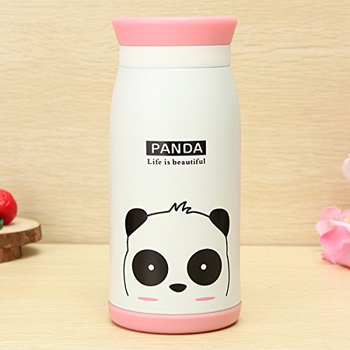Aliciashouse Aspirateur animal Cartoon Flask Thermos Cup Eau Thé Bouteille 350ML -panda