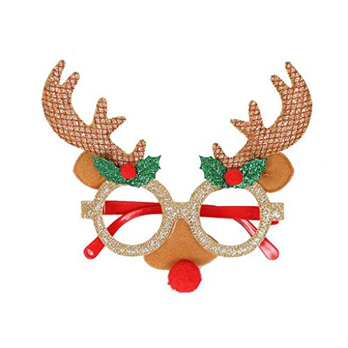 Shirt Luv Christmas Decoration Adult Children Cartoon Party Glasses Frame Atmosphere