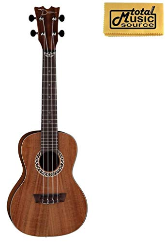 Dean Concert Ukulele, Koa Wood, Satin Natural, W/TMS Polishing Cloth,UKEDKOA PC